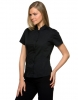 Womens Bar Shirt Mandarin Collar Short sleeve.